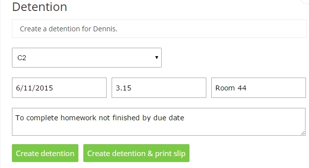 Remind Your Students Of Their Detention With Printable Slips
