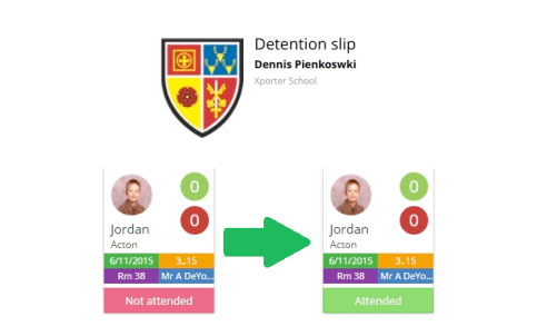 Printable Detention Slips