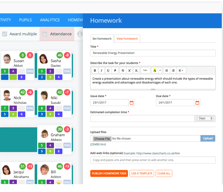 Instant seating plans & easy to use behaviour management